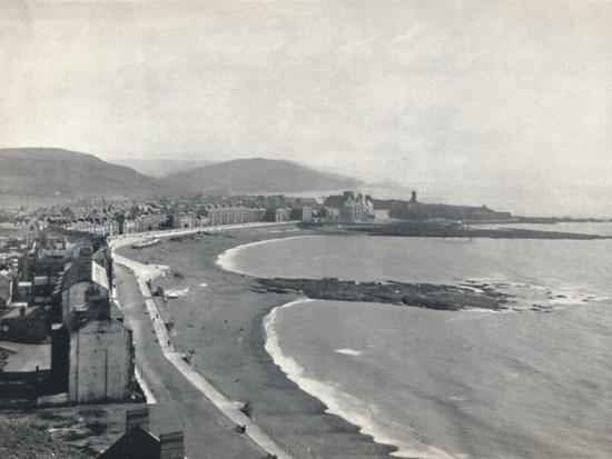 'Aberystwith - View of the Bay, Showing the Castle and the University College', 1895-Unknown-Photographic Print