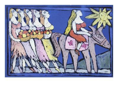 Abigail and Her Handmaids-Leslie Xuereb-Giclee Print