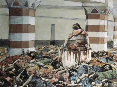Abimelech Slays His Seventy Brethren-James Jacques Joseph Tissot-Giclee Print