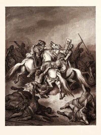 Abishai Saving the Life of David-Gustave Dore-Giclee Print