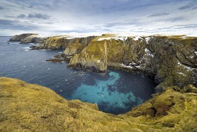 Horizontal Color Image of Selchie Geo, Shetland Islands, St Ninian's