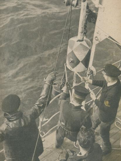 'Aboard a British Minesweeper', 1945-Unknown-Photographic Print