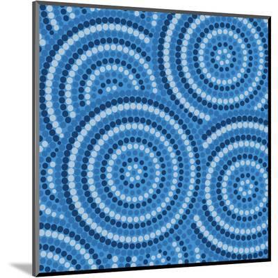Aboriginal Abstract Art-Piccola-Mounted Print
