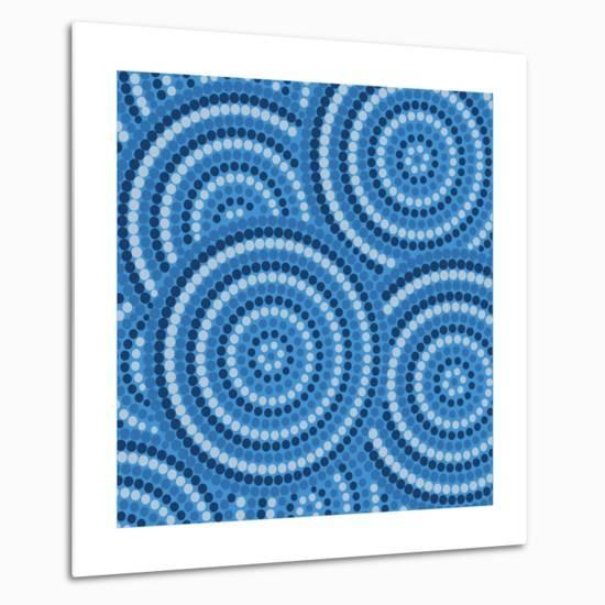 Aboriginal Abstract Art-Piccola-Metal Print