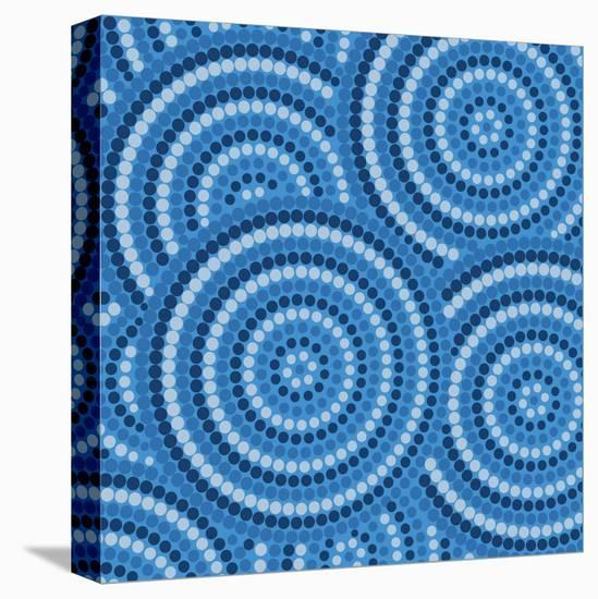 Aboriginal Abstract Art-Piccola-Stretched Canvas Print