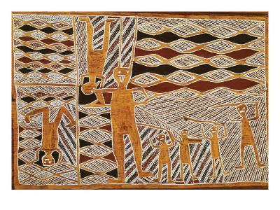 Aboriginal Bark Painting of Ritual Dance, from Yrrkala, Australia--Giclee Print