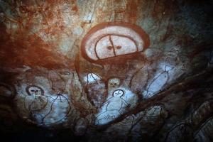 Aboriginal Cave Painting of a Wandjina