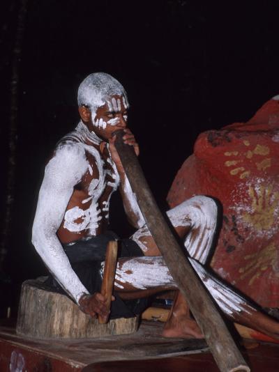 Aboriginal Dancer Didgeridoo, Pamagirri, Queensland, Cairns, Australia-Cindy Miller Hopkins-Photographic Print