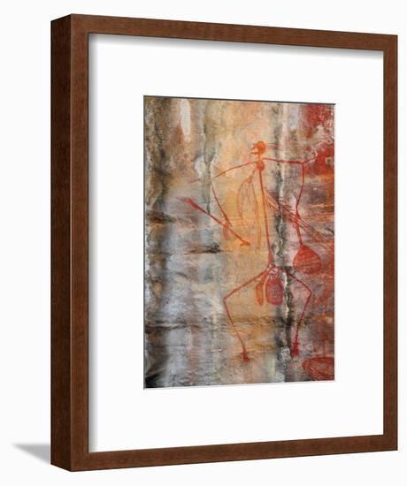 Aboriginal Rock Art, Ubirr, Kakadu National Par, Northern Territory, Australia, Pacific-Schlenker Jochen-Framed Photographic Print