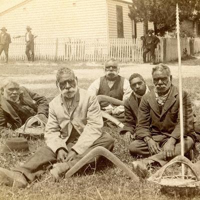 Aborigines, Melbourne, 1890--Photographic Print