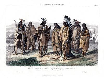 Aborigines of North America, 1873-JJ Crew-Giclee Print