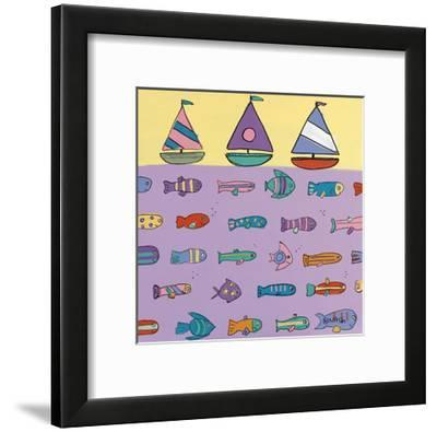 Above and Below-Brian Nash-Framed Art Print