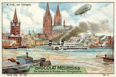 Above Cologne at Midday--Giclee Print