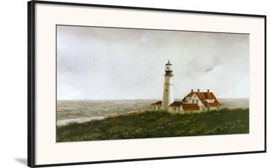 Above Portland Light-Douglas Brega-Framed Art Print