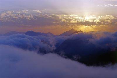 Above the Clouds at 3300 Meters on Mount Damavand, Looking at Sunset over the Alborz Mountains-Babak Tafreshi-Photographic Print