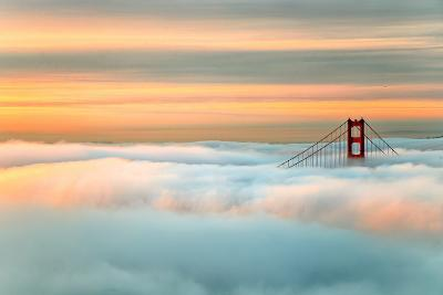 Above The Golden Gate Sunrise Fog, San Francisco-Vincent James-Photographic Print