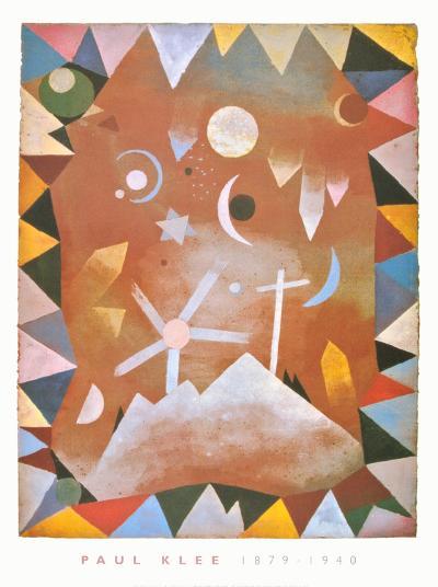 Above the Mountain Peaks-Paul Klee-Art Print