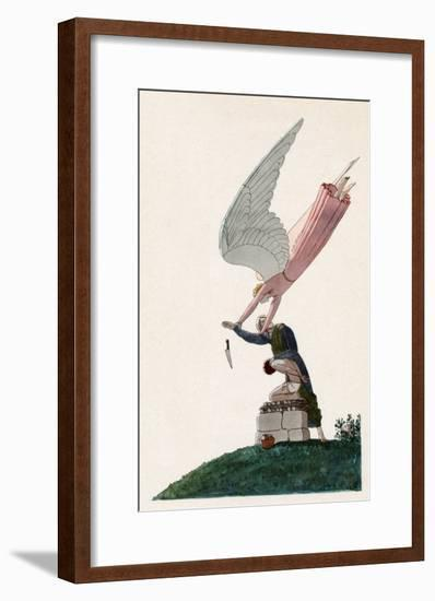Abraham and Angel-AE Marty-Framed Giclee Print
