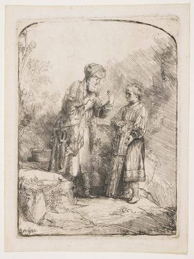 Abraham and Isaac, 1645-Rembrandt van Rijn-Giclee Print