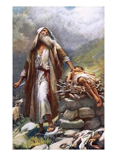 Abraham and Isaac-Harold Copping-Giclee Print