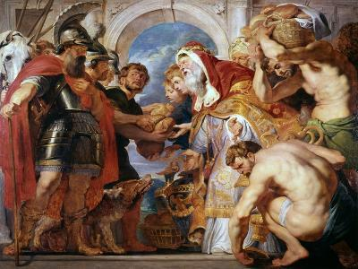 Abraham and Melchisedech, 1615-1618-Peter Paul Rubens-Giclee Print