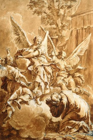 Abraham and the Three Angels, c.1750-Francesco Fontebasso-Giclee Print