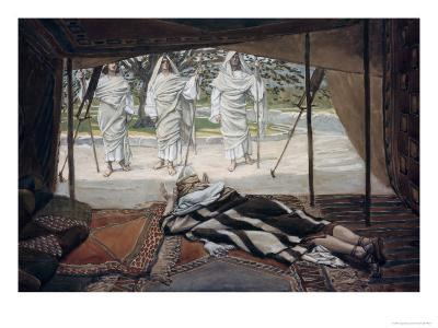 Abraham and the Three Angels-James Tissot-Giclee Print