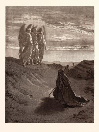 Abraham and the Three Angels-Gustave Dore-Giclee Print