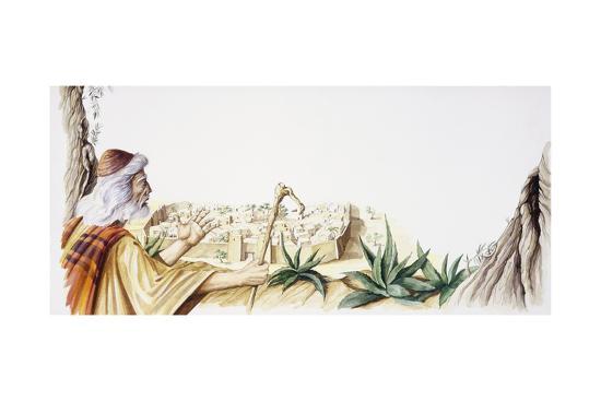 Abraham Arrives at Sodom--Giclee Print
