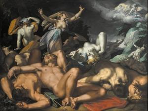 Apollo and Diana Punishing Niobe by Killing her Children, 1591 by Abraham Bloemaert