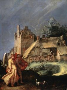 Landscape with Tobias and the Angel, C1610-C1615 by Abraham Bloemaert