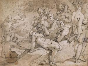 No.3146 Diana and Callisto from Ovid's `Metamorphosis`, Ii, P.442-53, C.1595 by Abraham Bloemaert