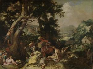 Preaching of Saint John the Baptist by Abraham Bloemaert