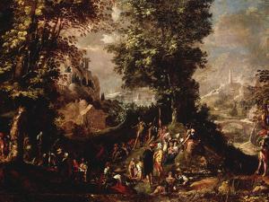 St John the Baptist Preaching to the Multitude by Abraham Bloemaert