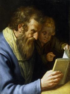 St Matthew and an Angel, 1621 by Abraham Bloemaert