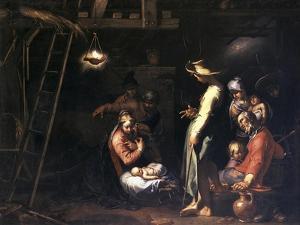 The Birth of Christ by Abraham Bloemaert