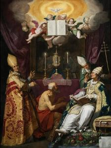 The Four Fathers of the Latin Church by Abraham Bloemaert