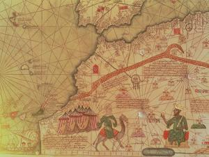 Detail from the Catalan Atlas, 1375 by Abraham Cresques