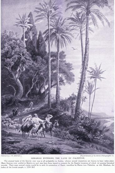 Abraham Enters the Land of Palestine 2250 Bc-Johann Wilhelm Schirmer-Giclee Print