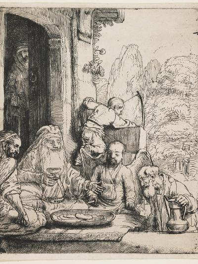 Abraham Entertaining the Angels, 1656-Rembrandt van Rijn-Giclee Print