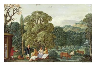 Abraham Entertaining the Three Angels-Johann Or Hans Konig-Giclee Print