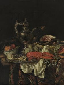 Still Life with a Silver Pitcher, 1660S by Abraham Hendricksz van Beijeren