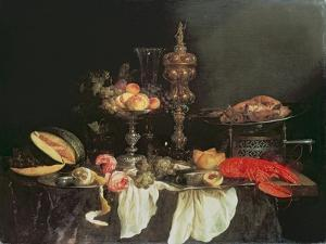 Still Life with a Lobster and a Turkey by Abraham Hendricksz Van Beyeren