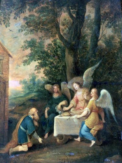 Abraham Kneels in Front of Three Angels, 1581-1642-Frans Francken II-Giclee Print