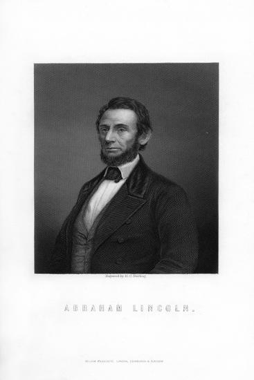 Abraham Lincoln, 16th President of the United States-HC Balding-Giclee Print
