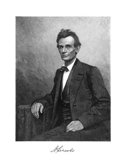 Abraham Lincoln (1809-186), US President, 1860-T Cole-Giclee Print
