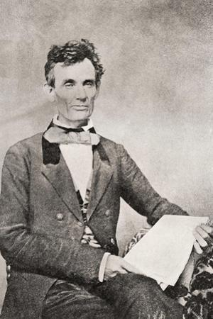 Abraham Lincoln, 1809 – 1865, Seen Here in 1854