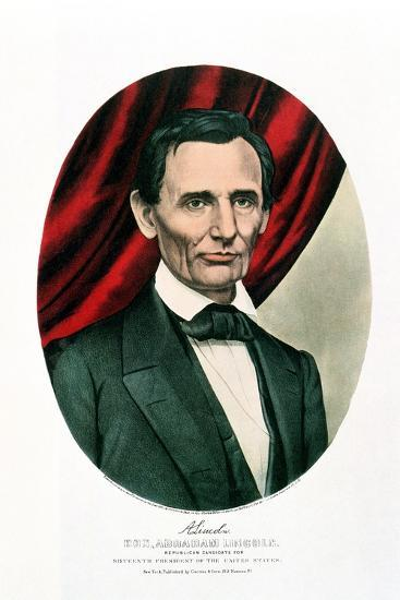 Abraham Lincoln (1809-6), C1865-Currier & Ives-Giclee Print