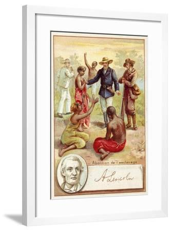 Abraham Lincoln and the Abolition of Slavery in the United States--Framed Giclee Print