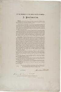 Emancipation Proclamation, 1863 by Abraham Lincoln